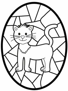 "These are awesome ""stained glass"" coloring pages. Some of the animals also cross over with the Chinese zodiac so these could come in handy during the Lunar New Year. Doodle Coloring, Coloring Sheets, Coloring Books, Animal Activities, Autumn Activities, Coloring For Kids, Coloring Pages For Kids, Pebbles And Bam Bam, Forest Illustration"