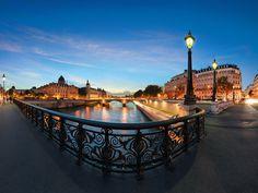 paris in night   PARIS BY NIGHT - Poster promenade sur l'île Saint Louis