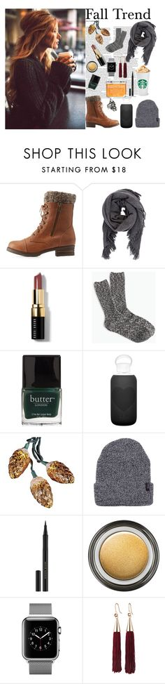 """""""Fall Trend"""" by nicolexmua on Polyvore featuring ASOS, Charlotte Russe, Isabel Marant, Bobbi Brown Cosmetics, J.Crew, Butter London, bkr, Kurt Adler, Kevyn Aucoin and Giorgio Armani"""