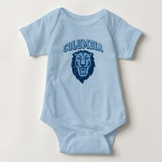 Columbia University | Lions - Vintage Baby Bodysuit - classic gifts gift ideas diy custom unique