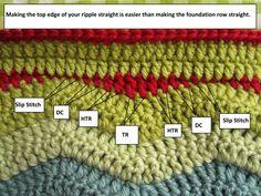 Crochet Making a Ripple Straight - Tutorial