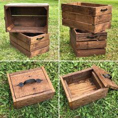 Transcendent Dog House with Recycled Pallets Ideas. Adorable Dog House with Recycled Pallets Ideas. Wooden Pallet Table, Wooden Pallet Furniture, Wooden Pallets, Furniture Ideas, Pallet Wood, Outdoor Furniture, Rustic Storage Cabinets, Pallet Storage, Wooden Storage Boxes