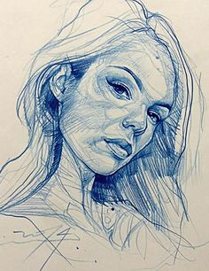 Alvin Chong {contemporary figurative art female head woman face portrait sketch drawing #loveart} artofalvin.com
