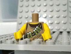 LEGO Dino Tracker Minfigure TORSO Ammo Belt All Yellow Arms Tan/Dark Brown Shirt #LEGO