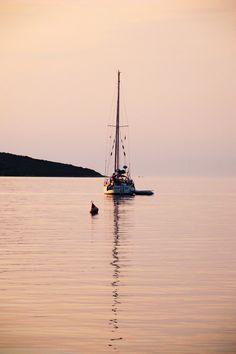 sailboat in sunset Sailboat, My Photos, Sunset, Landscape, Photography, Art, Sailing Boat, Scenery, Sailboats