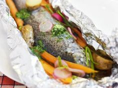Forel in papillot