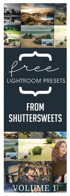 Free Lightroom Presets from Shuttersweets Shuttersweets has offered up 20 of their most popular free lightroom presets in one easy download. Make editing a breeze with both RAW and jpg file formats…