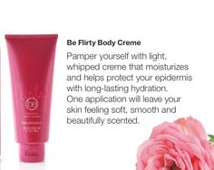 Beauticontrol's Be Flirty Body Creme  www.beautipage.com/danatompkins