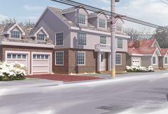 anime images: Anime House Outside Background