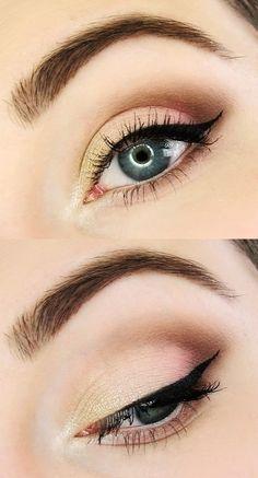 Wedding #makeup for blue eyes