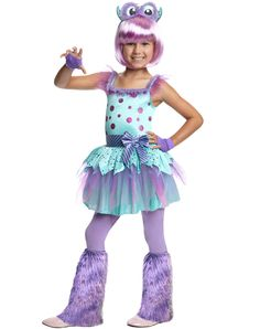 Monster Cutie Girls Costume is the purples cutest costums I've ever seen Halloween Costumes 2014, Cute Costumes, Spirit Halloween, Costume Ideas, Purple Tights, Purple Dress, Kids Costumes Girls, Girl Costumes, Monster Party