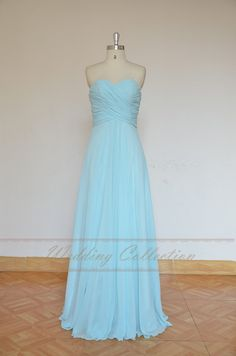 Light Blue simple prom dress, prom gown, evening dress,party dress with sweetheart neckline on Etsy, $136.45 CAD