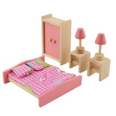 New baby toys kids play pretend juguete diseño muñeca muebles de baño de madera casa de muñecas en miniatura de juguete regalos de los niños