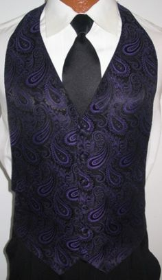 Have your Hottie wear this wonderful paisley vest with his Prom tuxedo!