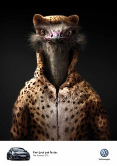 """When Ostrich and Leopard transform into one... """"Fast just got faster"""". Advertising agency: DDB, Germany. Source: Ads Of The World"""