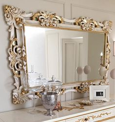 Paris collection large gold wall mirror shown here with the frame finished in a gold leaf. Description from pinterest.com. I searched for this on bing.com/images