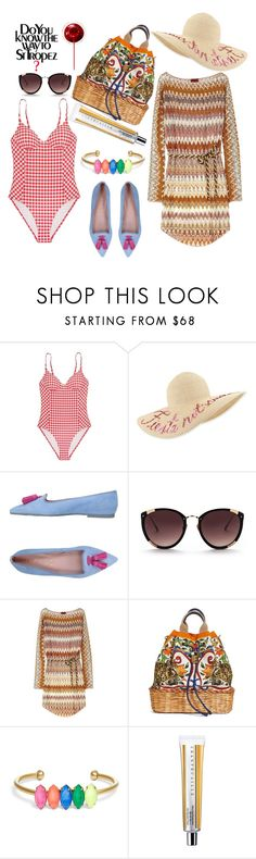 """Do you know the way to St Tropez?"" by kristi1982 ❤ liked on Polyvore featuring Tory Burch, Eugenia Kim, Pretty Ballerinas, Rebecca Taylor, Missoni, Dolce&Gabbana and Loren Hope"
