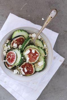 Fig, Cucumber and Quinoa Summer Salad.