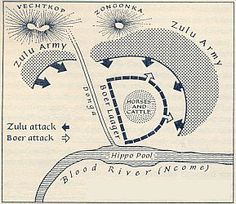 Battle of Blood River. My Land, Zulu, African History, World History, Victorian Era, Warfare, South Africa, Worksheets, Maps