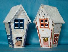 supercool house /box templates from many sources. Could do in clay?