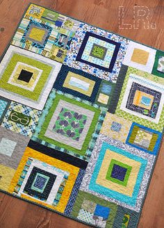 Boys' Dream Circle quilt from LR Stitched.
