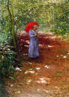 Walking in the Park,   1897, Antonín Slavíček ( Czech, 1870- 1910)