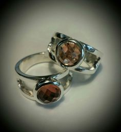 Sterling silver with natural Oregon Sunstones by Karla Proud