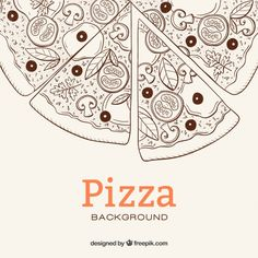 Discover thousands of copyright-free vectors. Graphic resources for personal and commercial use. Thousands of new files uploaded daily. Pizza Background, Sketch Background, Background Patterns, Pizza Art, Pizza Menu, Restaurant Brochure, Pizza Box Design, Pizza Tattoo, Sketch Style
