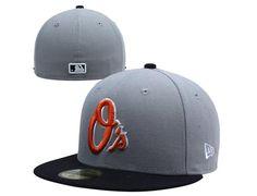 new york b2bda 58619 Custom Baltimore Orioles 2-Tone Basic Grey-Black 59Fifty Fitted Baseball Cap  by NEW