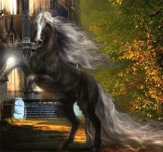 Flowing Horse Animated Picture