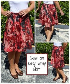 Cute half-circle wrap skirt pattern ~ So Sew Easy