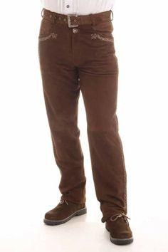 Eine hochwertige lange #Lederhose für Herren aus weichem Wildbockleder mit Gürtel und Reißverschluß. Ein echtes Highlight im #Trachtenmode Alltag und auf vielen Festen.