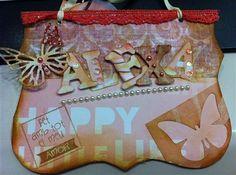 Cartel scrapbooking ALEXA, realizado por Cris.