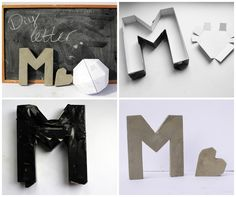 Concrete Monogram Letters | 22 Seriously Cool Cement Projects You Can Make At Home