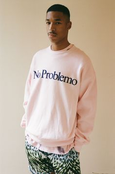 No Problemo Flocked Crew Sweat | Aries