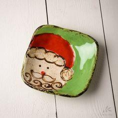 Etta B Pottery- Santa Baby Dish