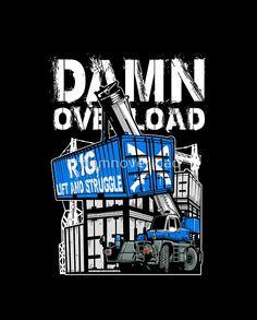 Rig Lift and Struggle #redbubble #mobilecrane #crawlercrane #lifting #heavyequipment #construction #plumbing