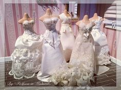 "Wedding dresses collection by ""Fashion in Miniature""✨"