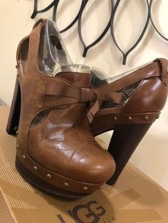 21ba77a386e8 UGG Australia Chestnut Celestina High Heel Women s US 6  fashion  clothing   shoes