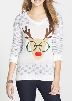 Reindeer sequin sweater http://rstyle.me/n/swxk6nyg6