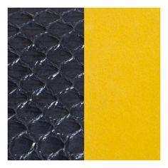 Cuir Les Georgettes Large Serpent d'eau marine/Ocre 702145799AM000 pour