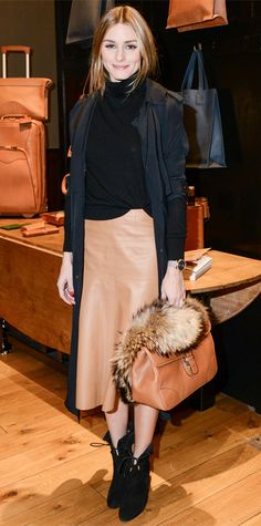 Look of the Day - October 25, 2014 - Olivia Palermo in Witchery from #InStyle