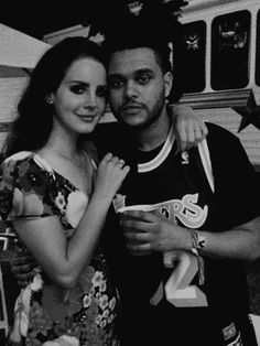 My 2 favorite people!!! What is this!!!! The Weeknd & Lana Del Rey