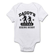 Daddy's Future Hiking Buddy Infant Bodysuit for