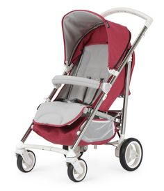 Bebecar SpotTech Berry Blush in stroller mode.   The new SpotTech is the only pushchair you'll ever need. It combines the compact folding of a lightweight stroller with the comfort of a luxury pram.