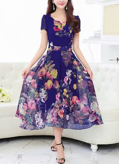 Latest fashion trends in women's Dresses. Shop online for fashionable ladies' Dresses at Floryday - your favourite high street store. Women's Dresses, Stylish Dresses, Women's Fashion Dresses, Casual Dresses, Vintage Dresses, Bridesmaid Dresses, Ladies Dresses, Chiffon Maxi Dress, Saree Dress