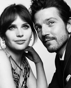Untitled   james-tee: Felicity Jones and Diego Luna at the...Golden Globes2017
