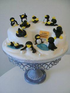 tickety boo cakes happy feet birthday cake