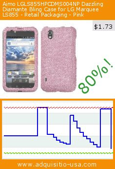 Aimo LGLS855HPCDMS004NP Dazzling Diamante Bling Case for LG Marquee LS855 - Retail Packaging - Pink (Wireless Phone Accessory). Drop 80%! Current price $1.73, the previous price was $8.73. https://www.adquisitio-usa.com/aimo/lgls855hpcdms004np