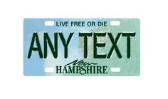 Custom, personalized bicycle mini state license plate - New Hampshire